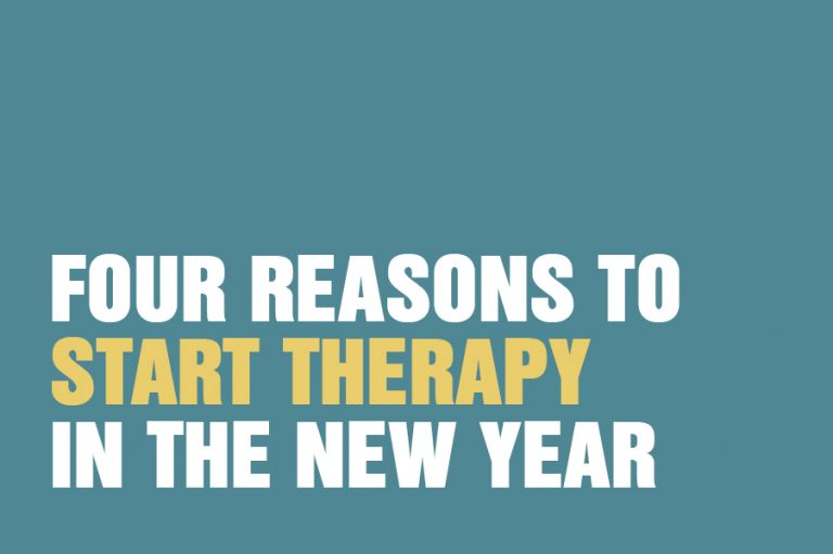 Four Reasons To Start Therapy In The New Year